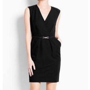 NWT Ann Taylor Crossover Faux Wrap Mini Dress 14P